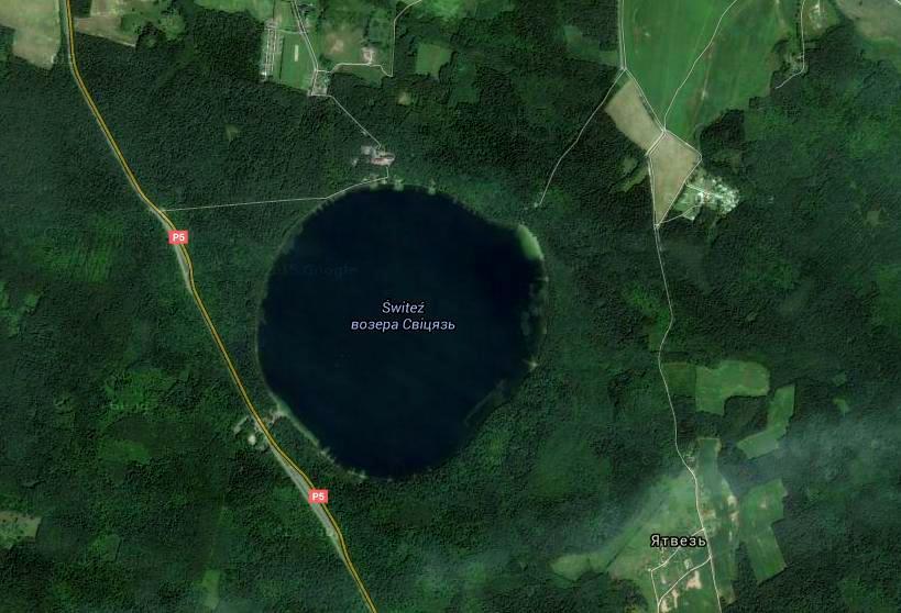 Jezioro Świteź z góry