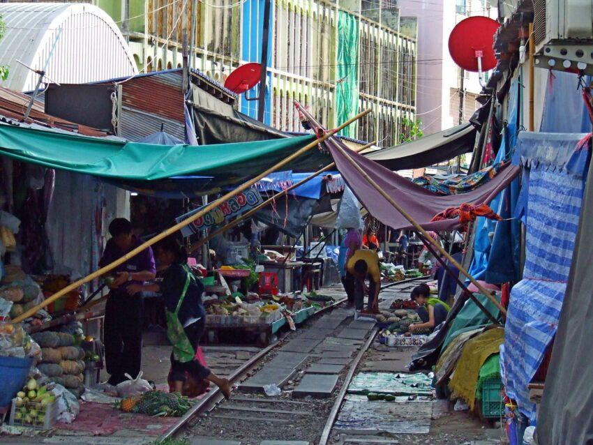 szalony targ w Tajlandii