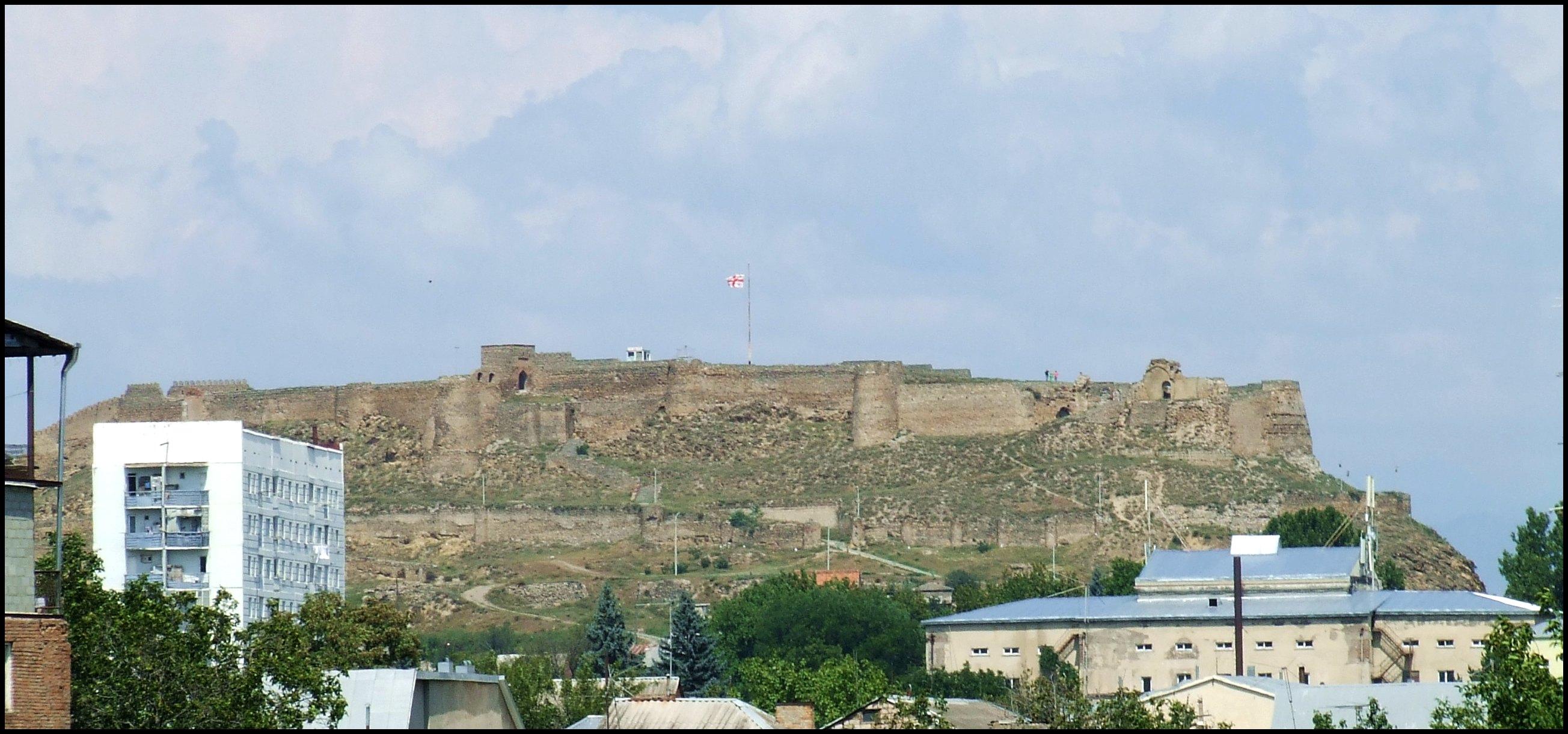 Zamek nad miastem Gori Gruzja