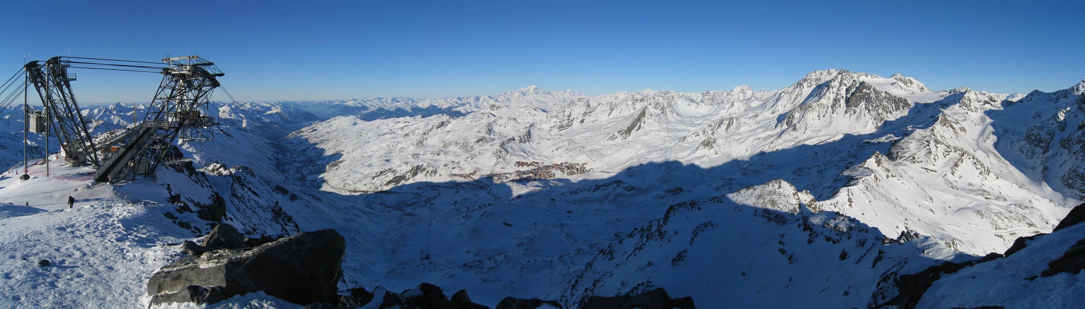 Val Thorens podniebna stacja narciarska