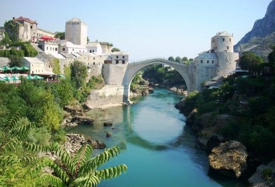 Mostar Bosnia i Hercegowina słynny most