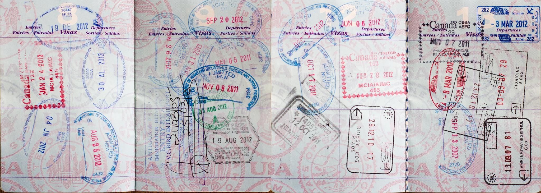 Paszport pieczątki przepisy wjazdowe