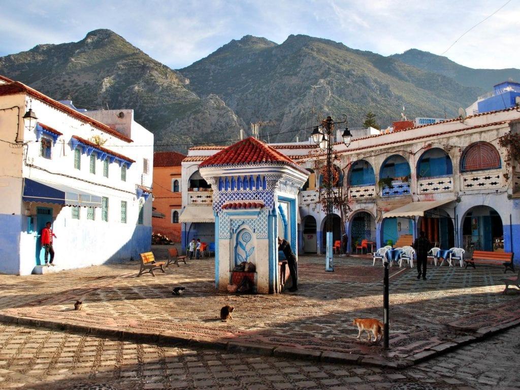 Chefchaouen. Maroko - wakacje