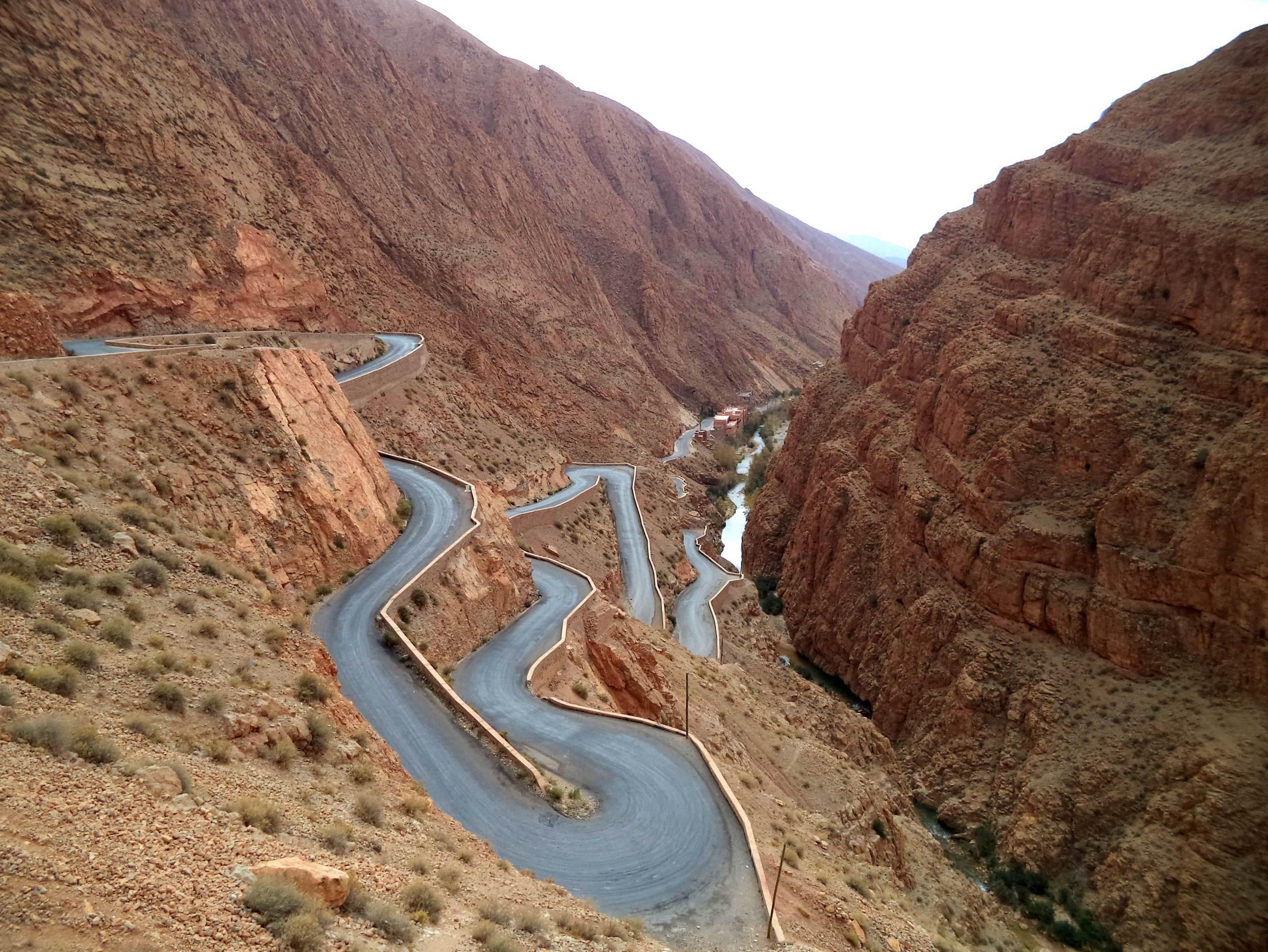 Wąwóz Dades. Maroko - wakacje