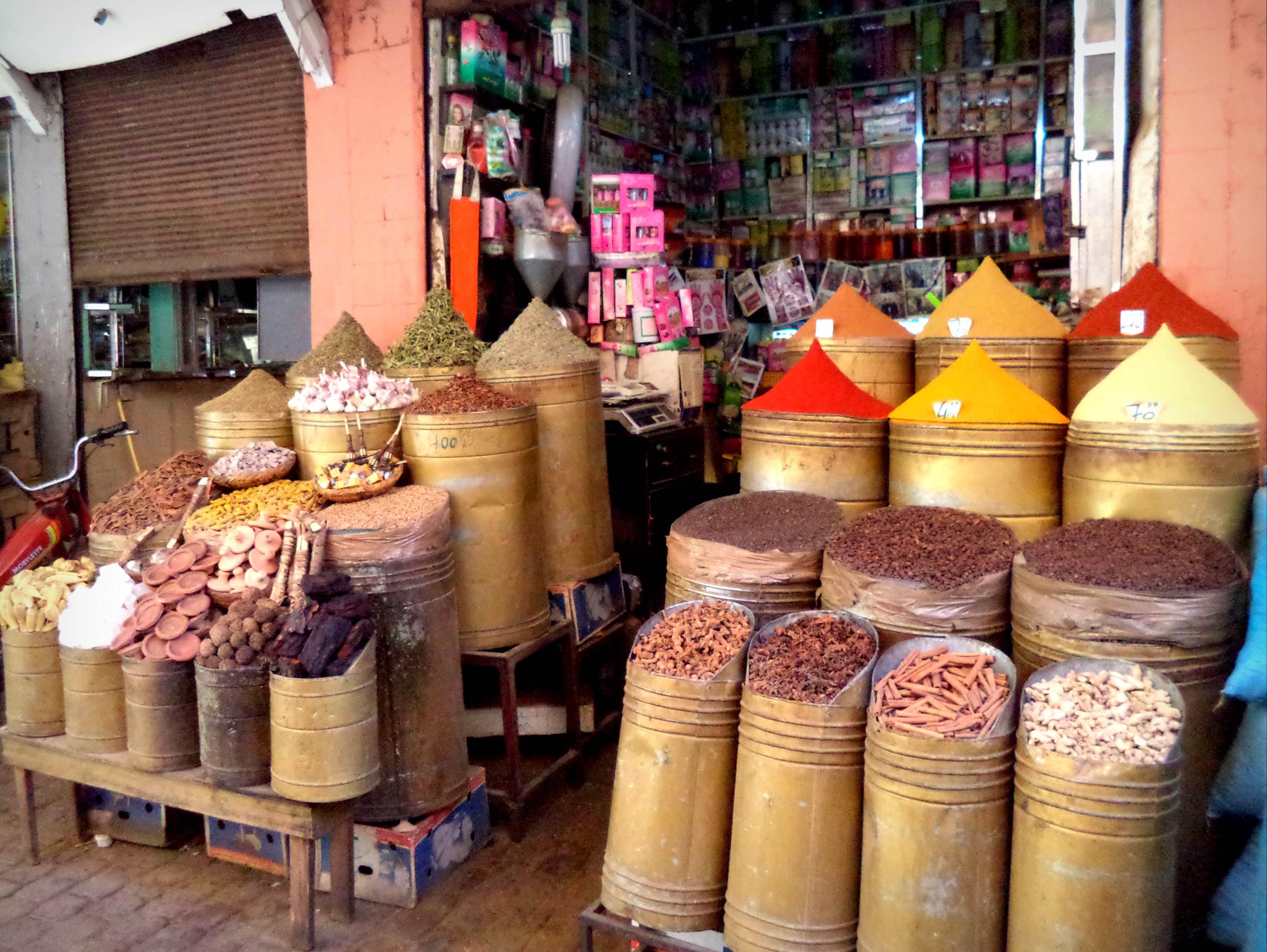 Marrakesz suk bazar Maroko