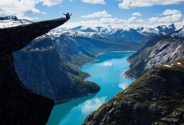 Trolltunga góry Norwegia podróże