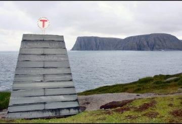 Knivskjelodden Norwegia przylądek północ Europy
