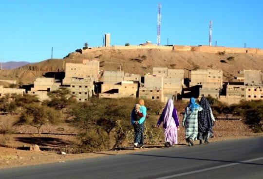 Zagora Maroko kobiety stroj