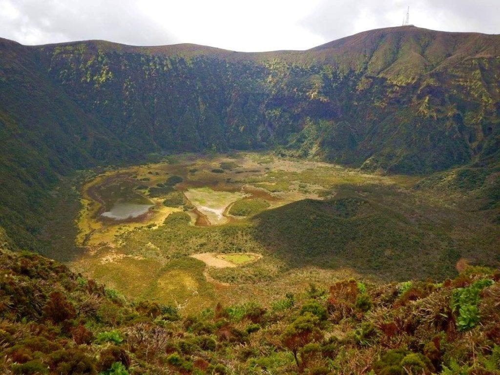 Kaldera wyspa faial azory