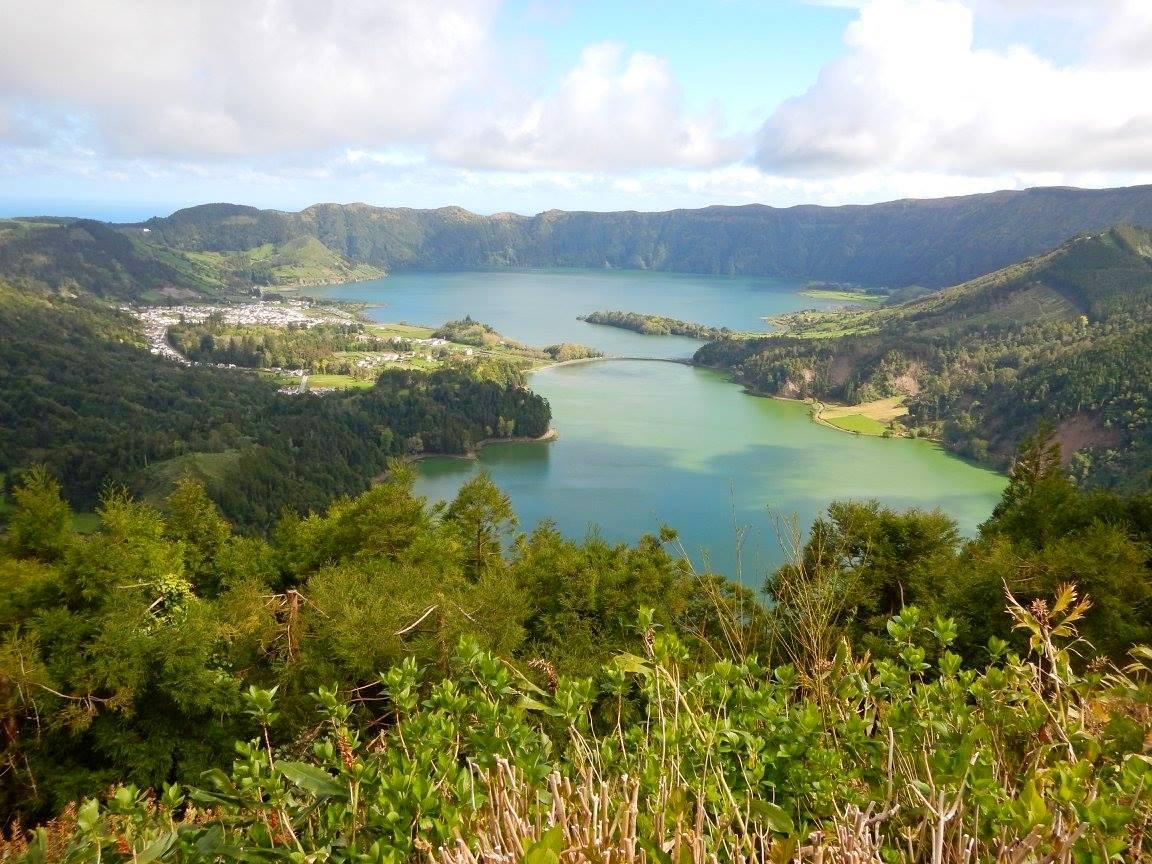 Lagoa das sete cidades azory wyspa atlantyk