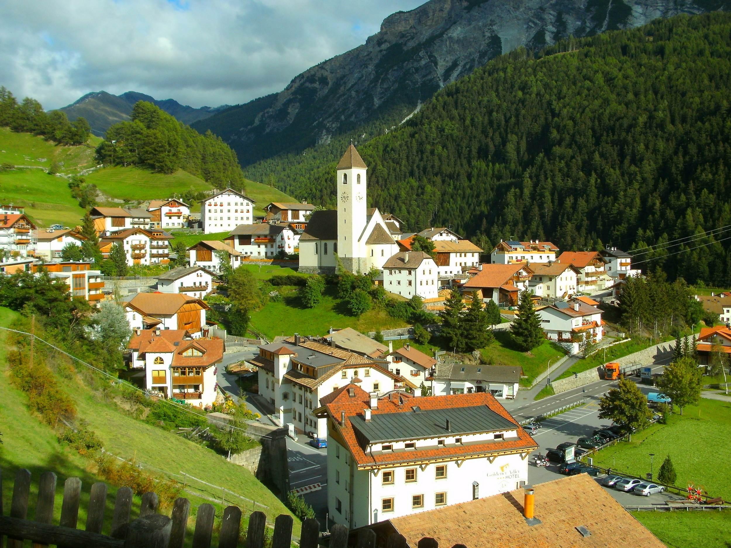 Nowy kościół Graun im Vinschgau
