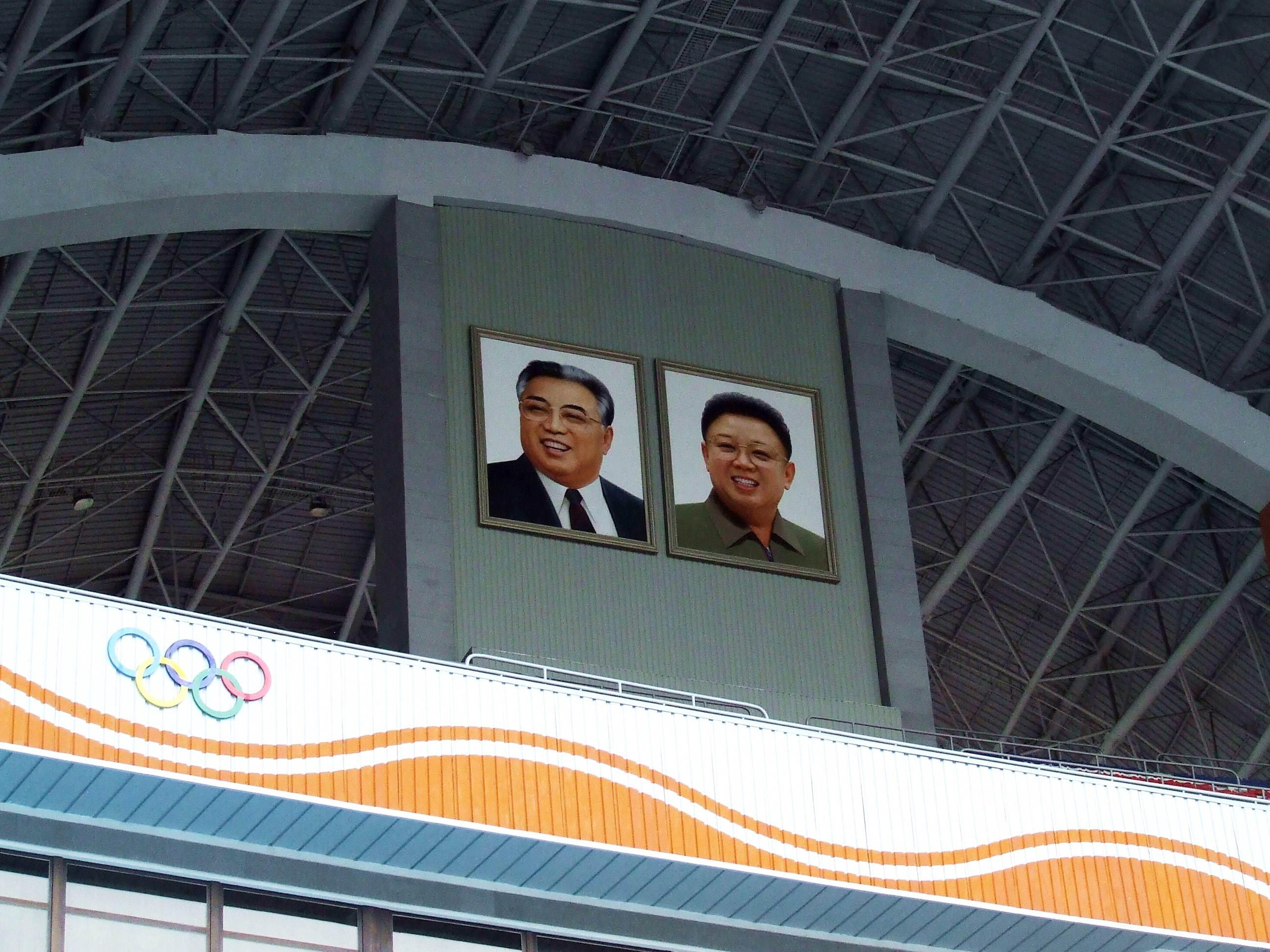 Portrety byłych przywódców Korei Północnej