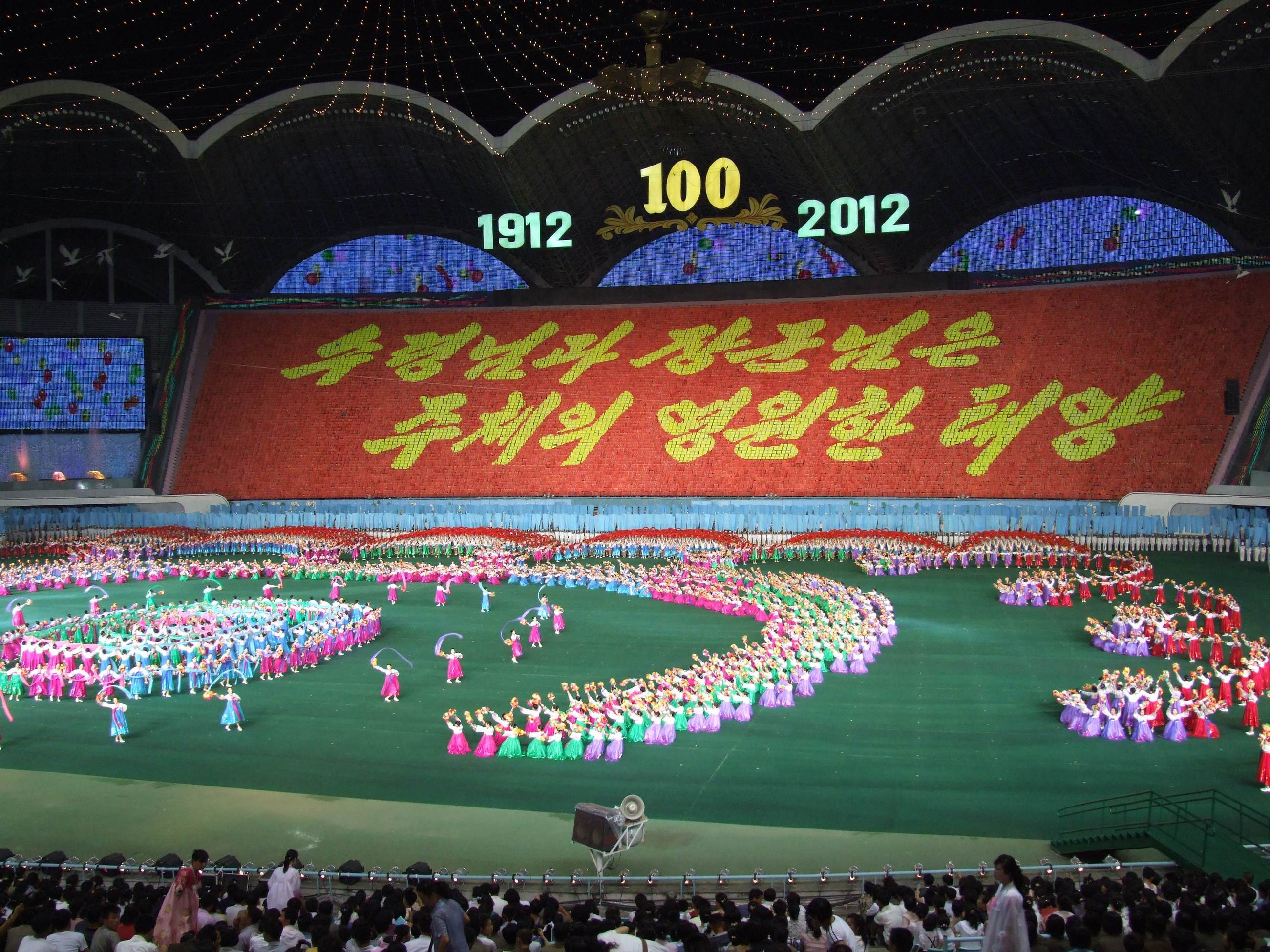 Festiwal Arirang - największy stadion świata