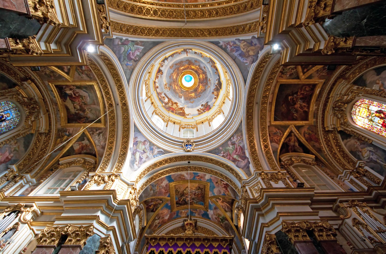 Sklepienie dachu - katedra Św. Pawła