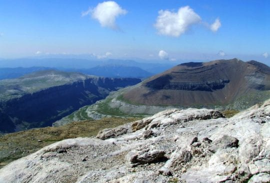 Widok - Dolina Ordesy w Pirenejach