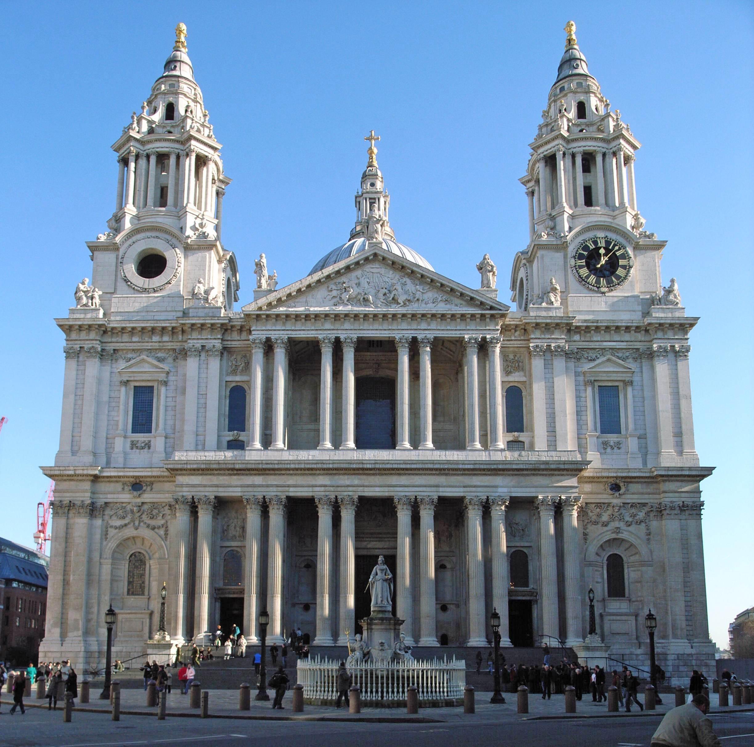Zachodnia fasada - katedra Św. Pawła