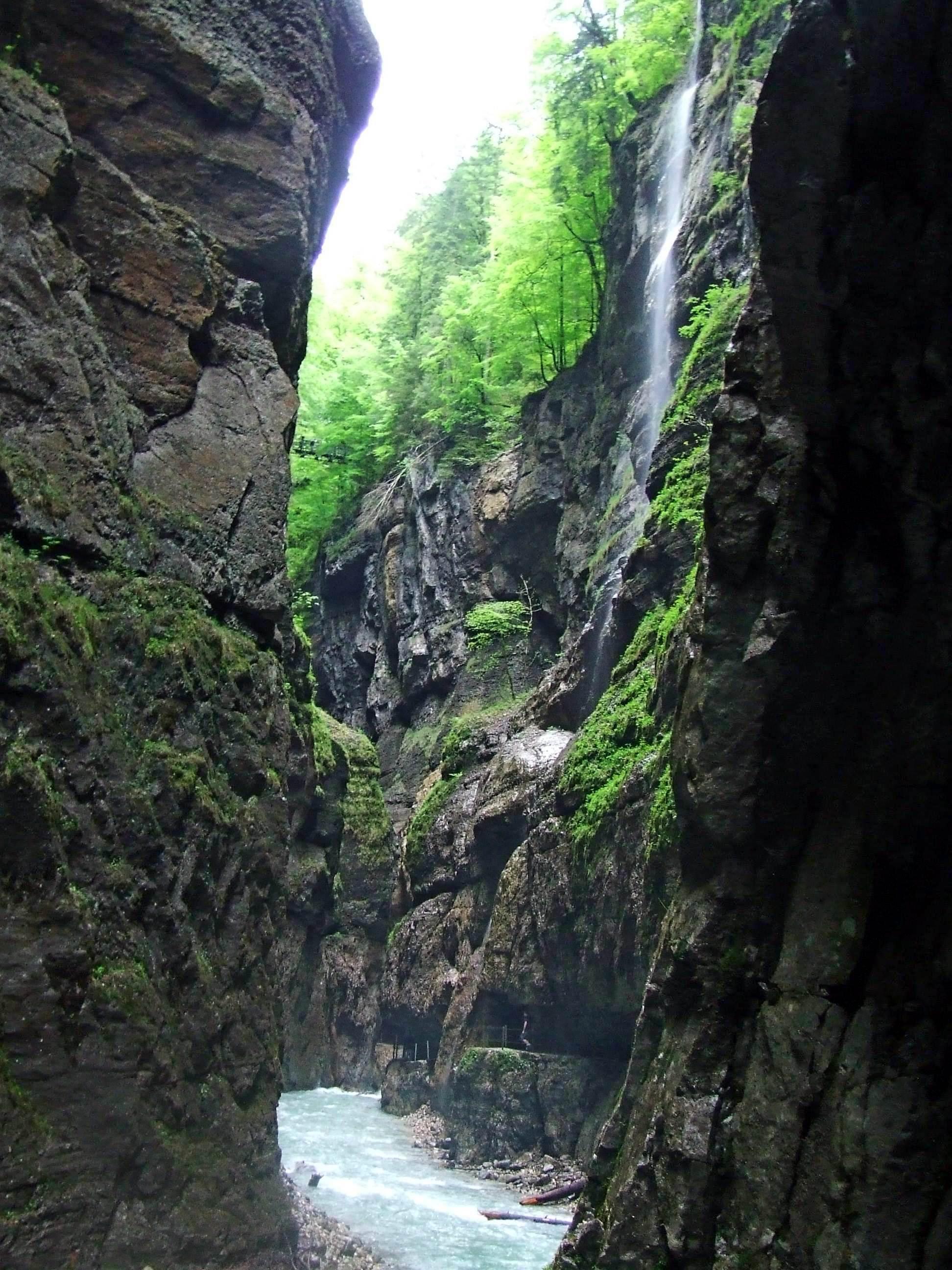 Wąwóz Partnach w Alpach Bawarskich