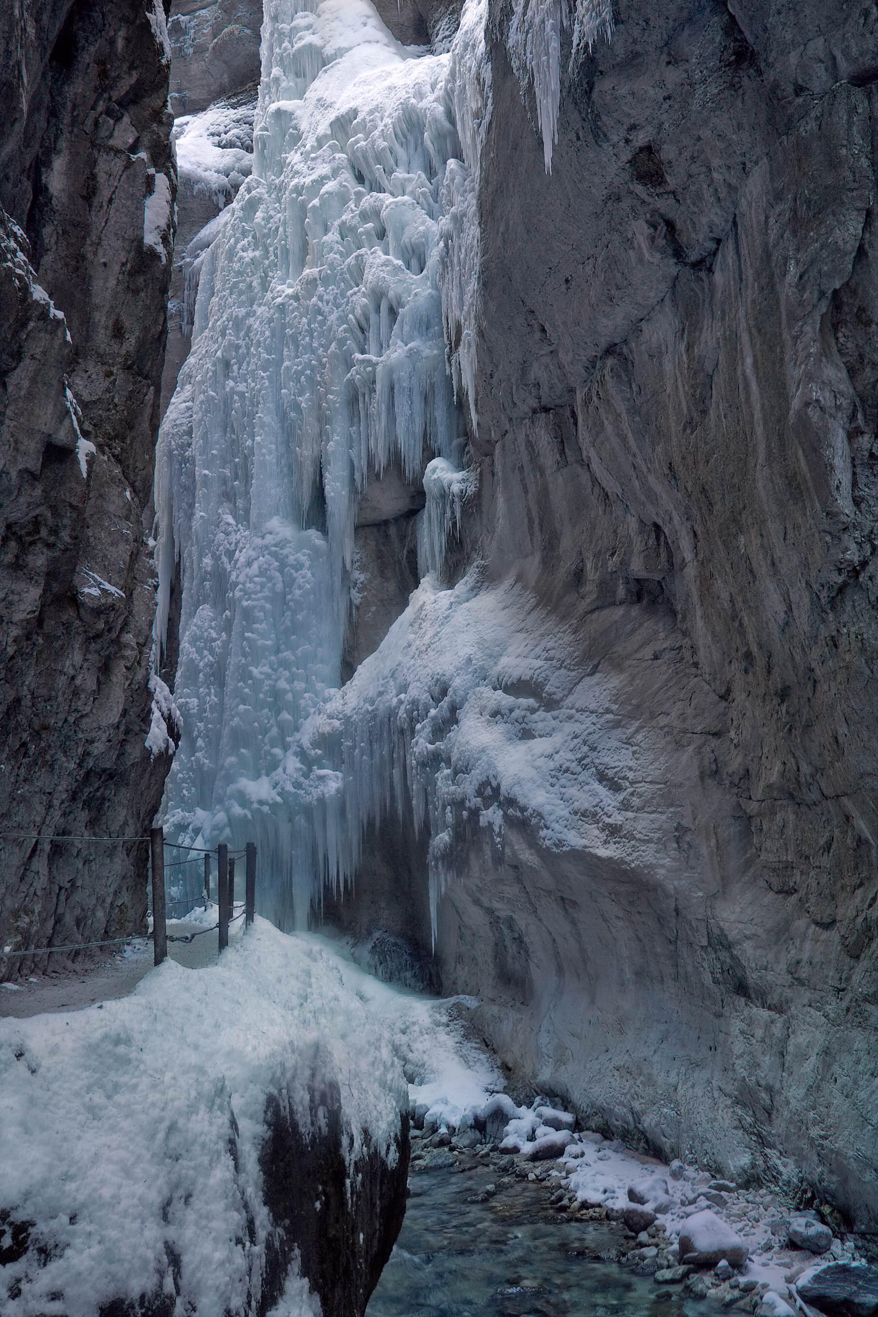 Wąwóz Partnach zimą