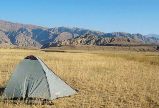Nocleg w namiocie w Kirgistanie