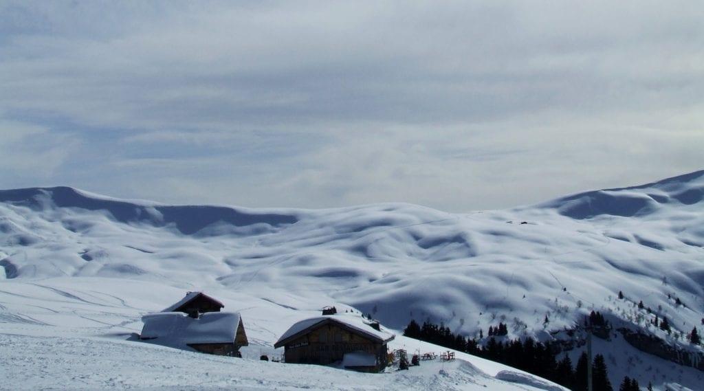 Śnieg Alpy Francja
