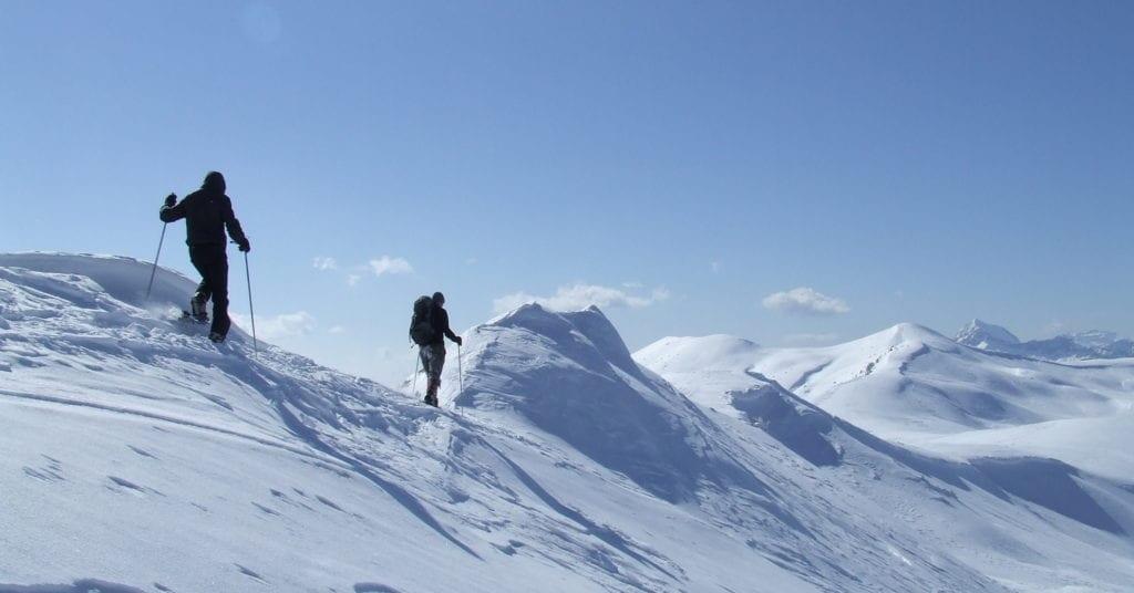 Trekking zima Alpy