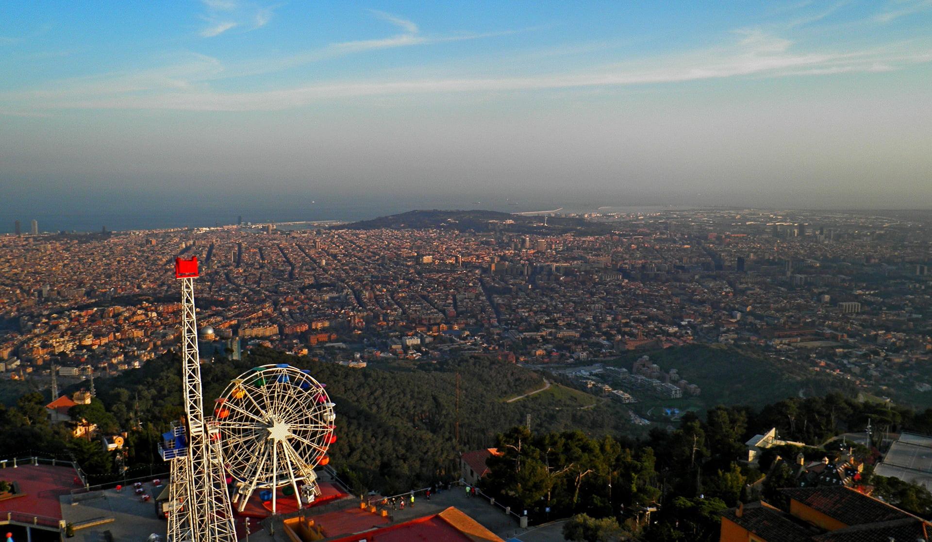 tibidabo widok zachód