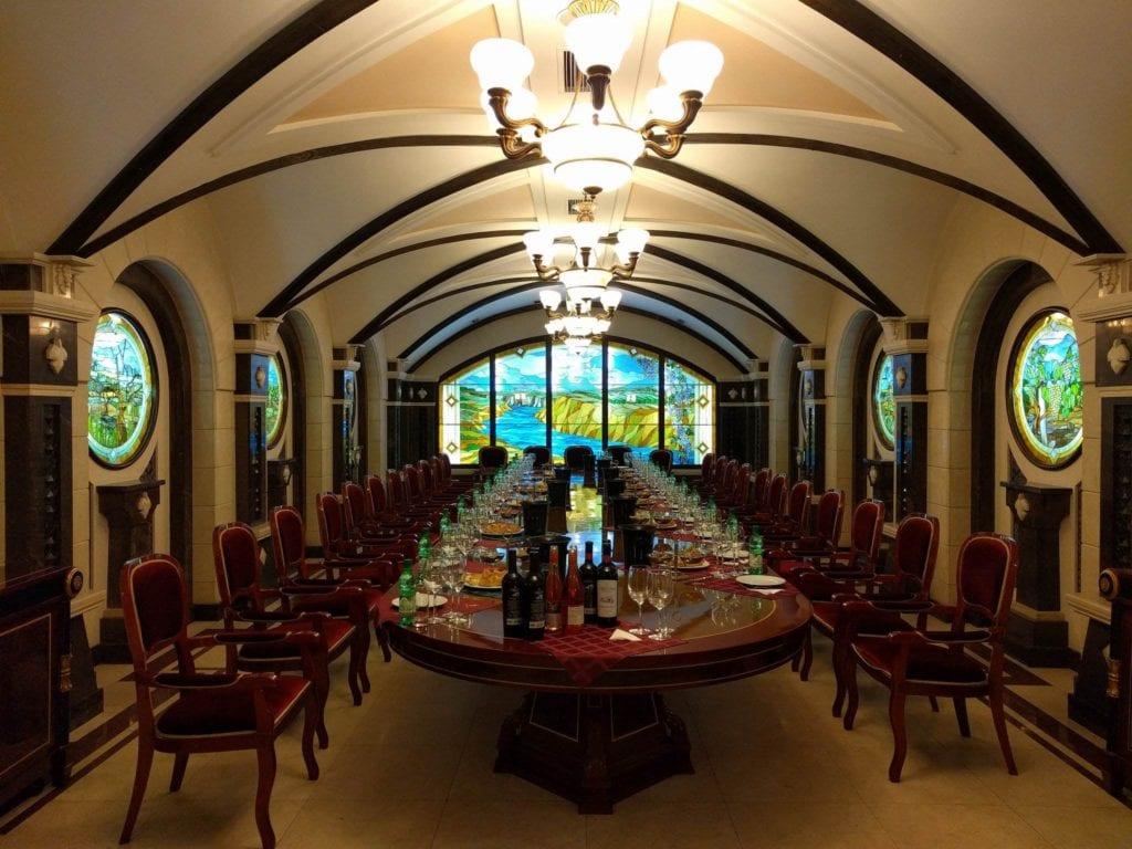 Sala degustacji wina Cricova Mołdawia