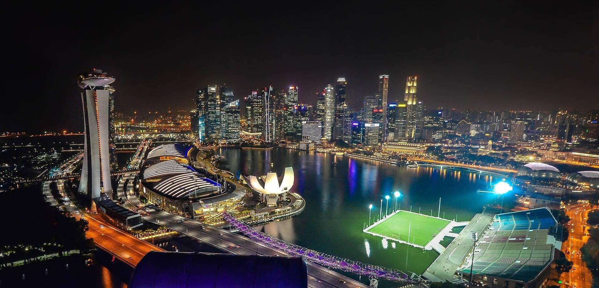 Singapur Panorama Marina bay