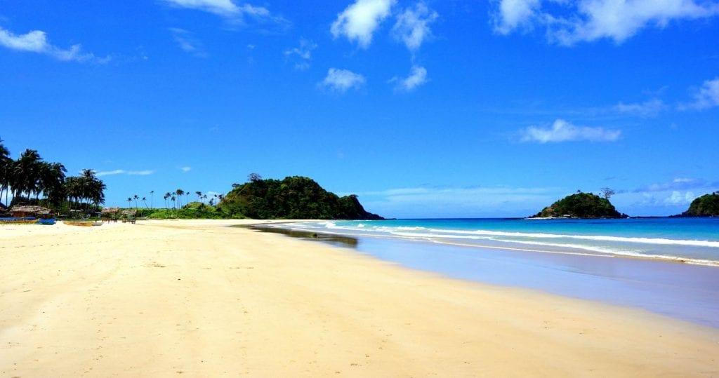 Plaża Nacpan, Palawan, Filipiny