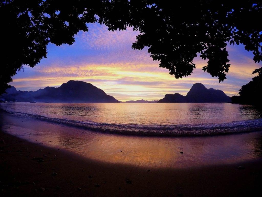 Zachód słońca Palawan El Nido Filipiny