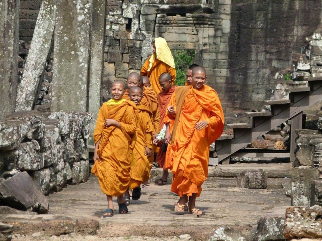 Mnisi buddyjscy świątynia Angkor