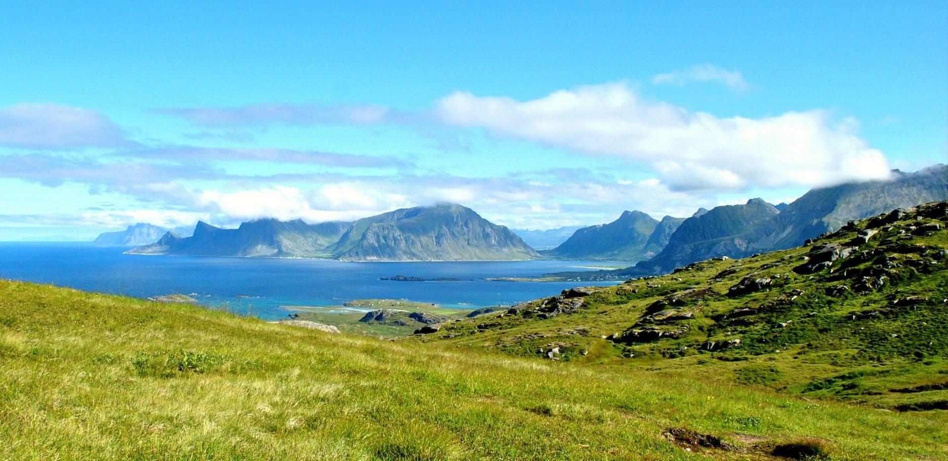 Krajobraz Lofotów Norwegia
