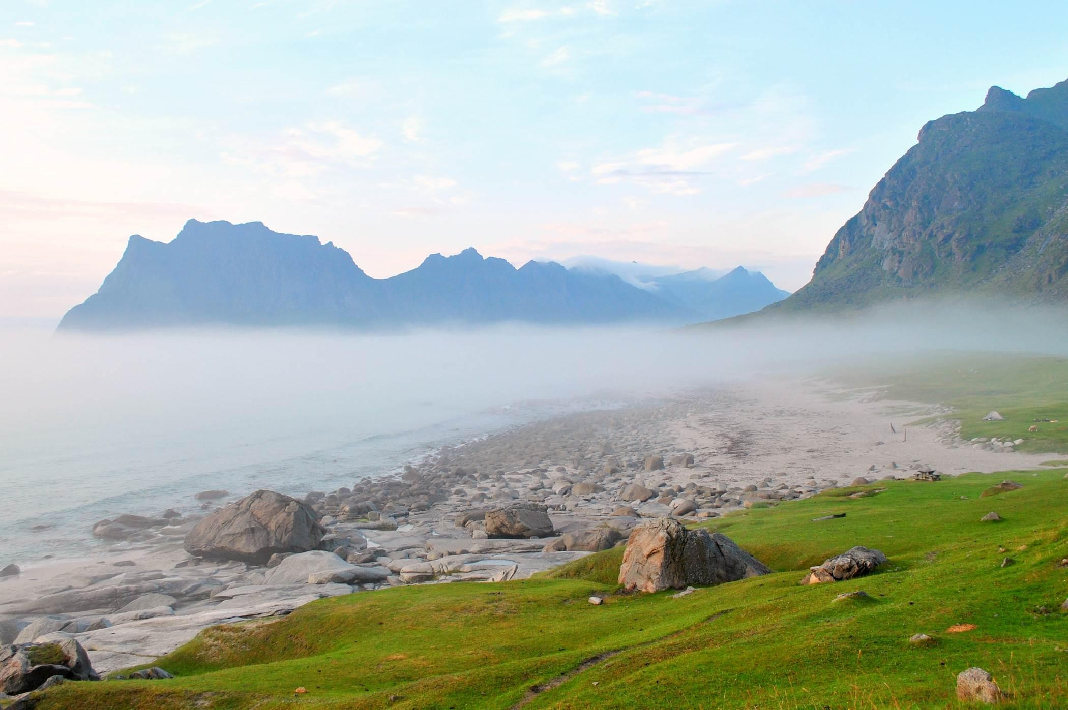 Plaża Utakleiv, Lofoty, Norwegia