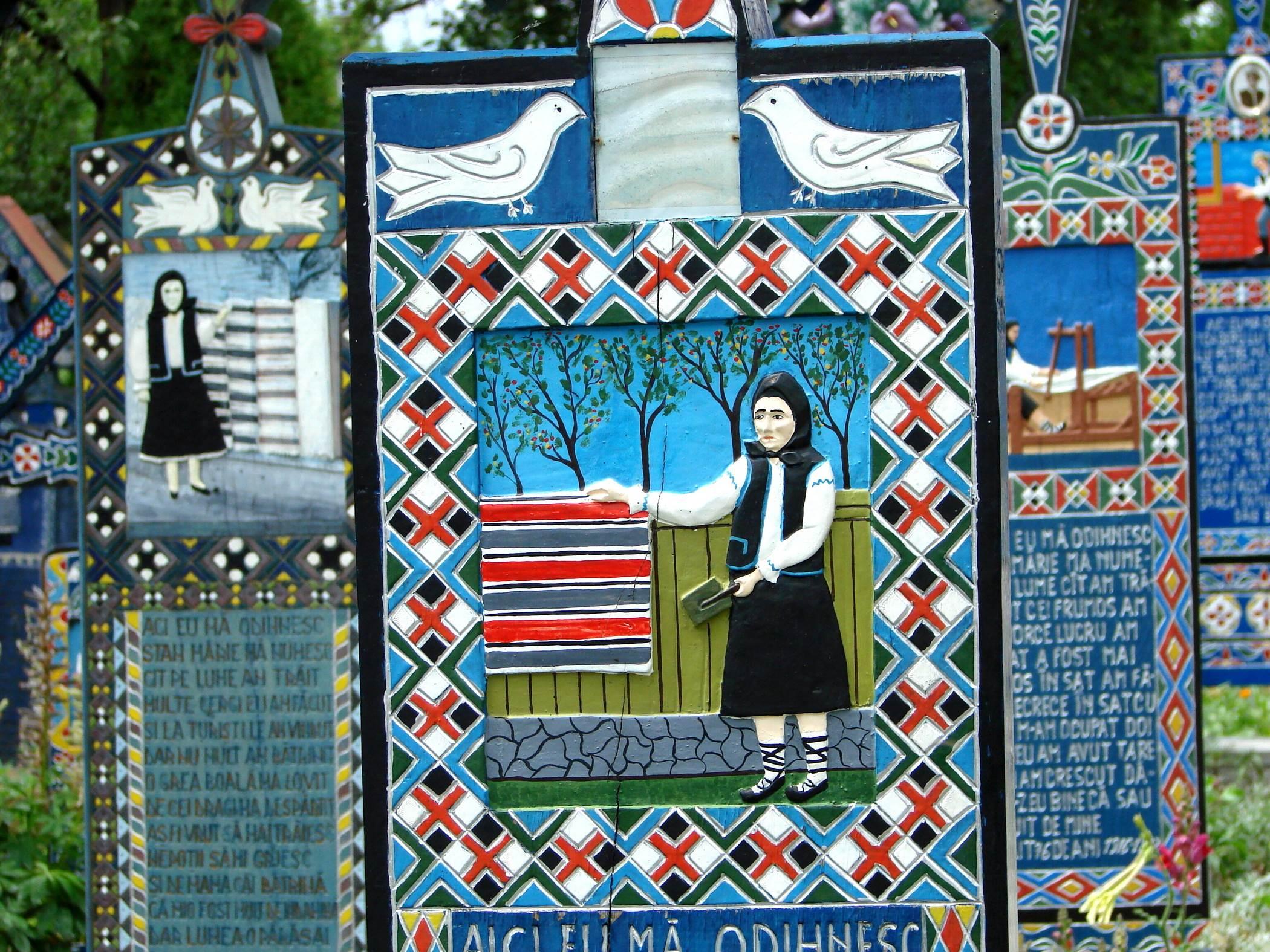 Kolorowy cmentarz w Rumunii