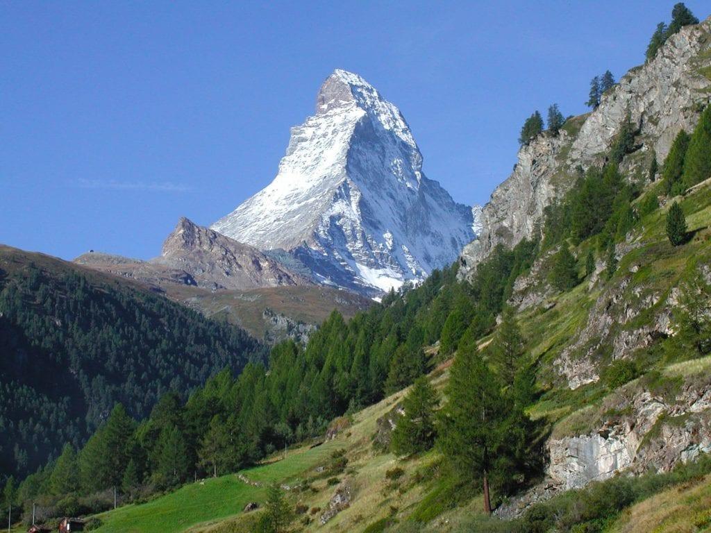 Matterhorn szczyt Alpy Szwajcaria