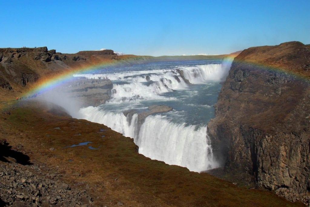 Wodospad Gullfoss na Islandii