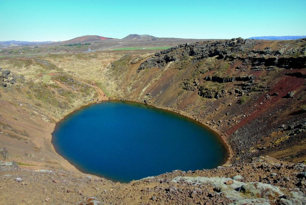 Jezioro Kerid w kraterze, Islandia
