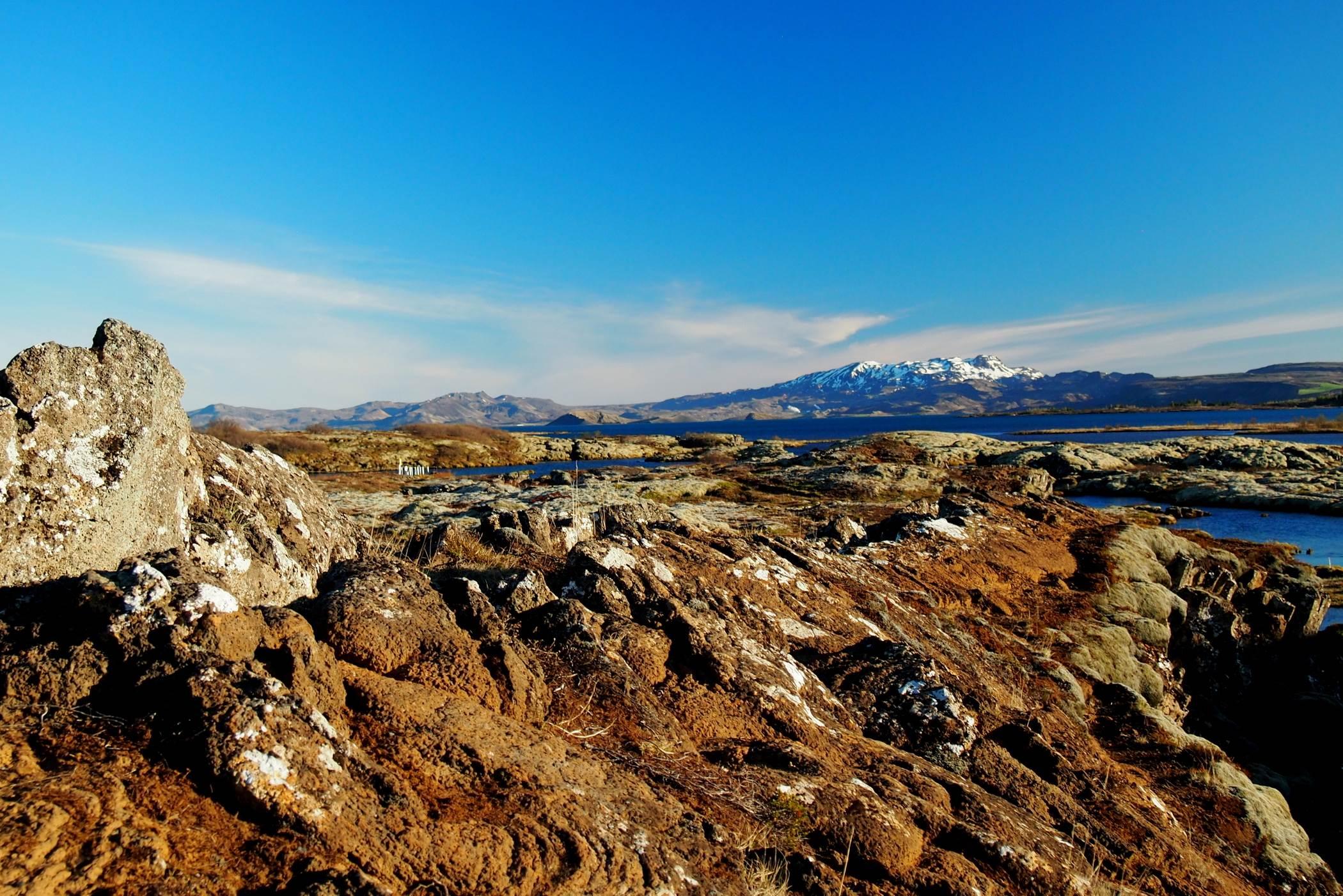 Krajobrazy Islandii góry