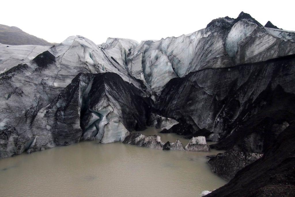 Lodowiec Sólheimajökull na Islandii
