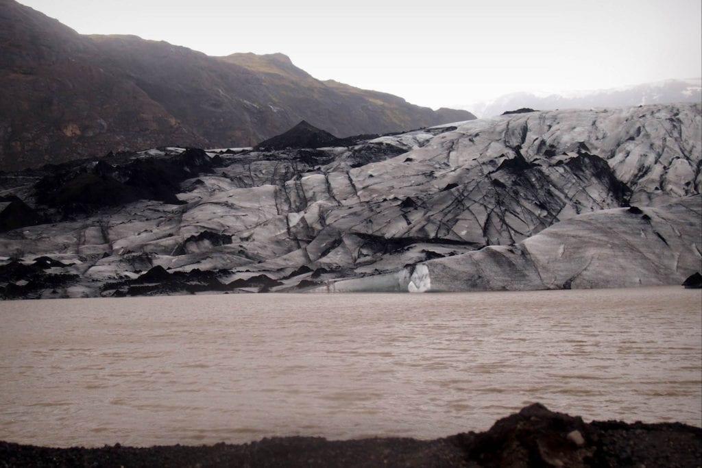 Widok na Lodowiec Sólheimajökull Islandia