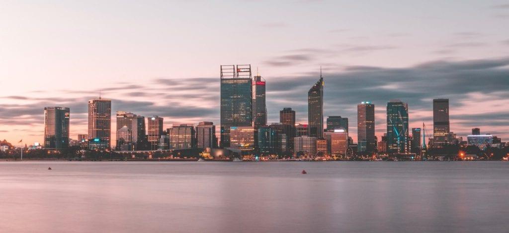 Zachód słońca w Perth