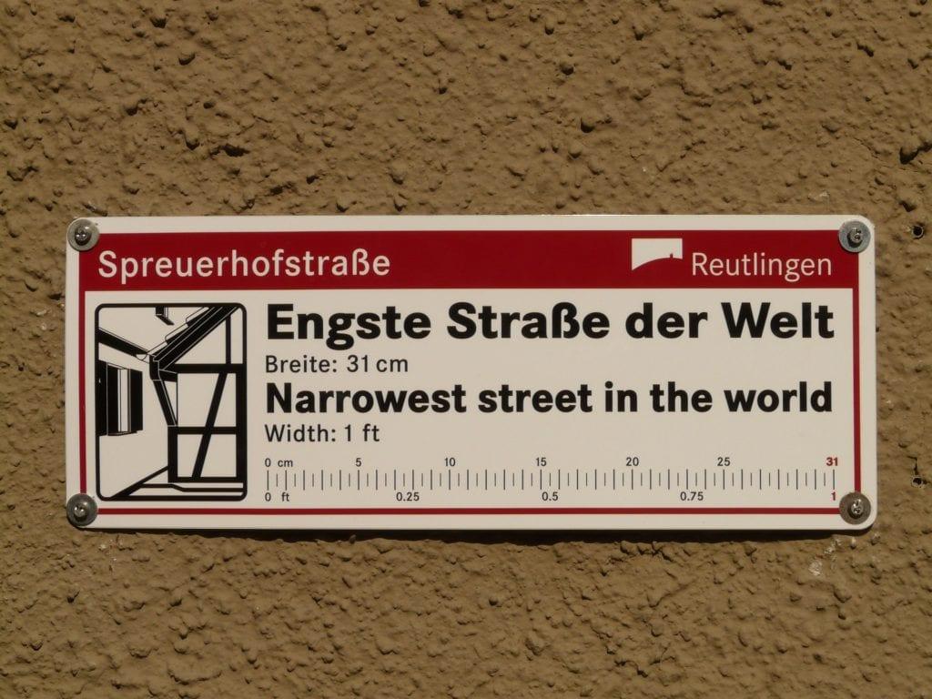 Najwęższa ulica świata