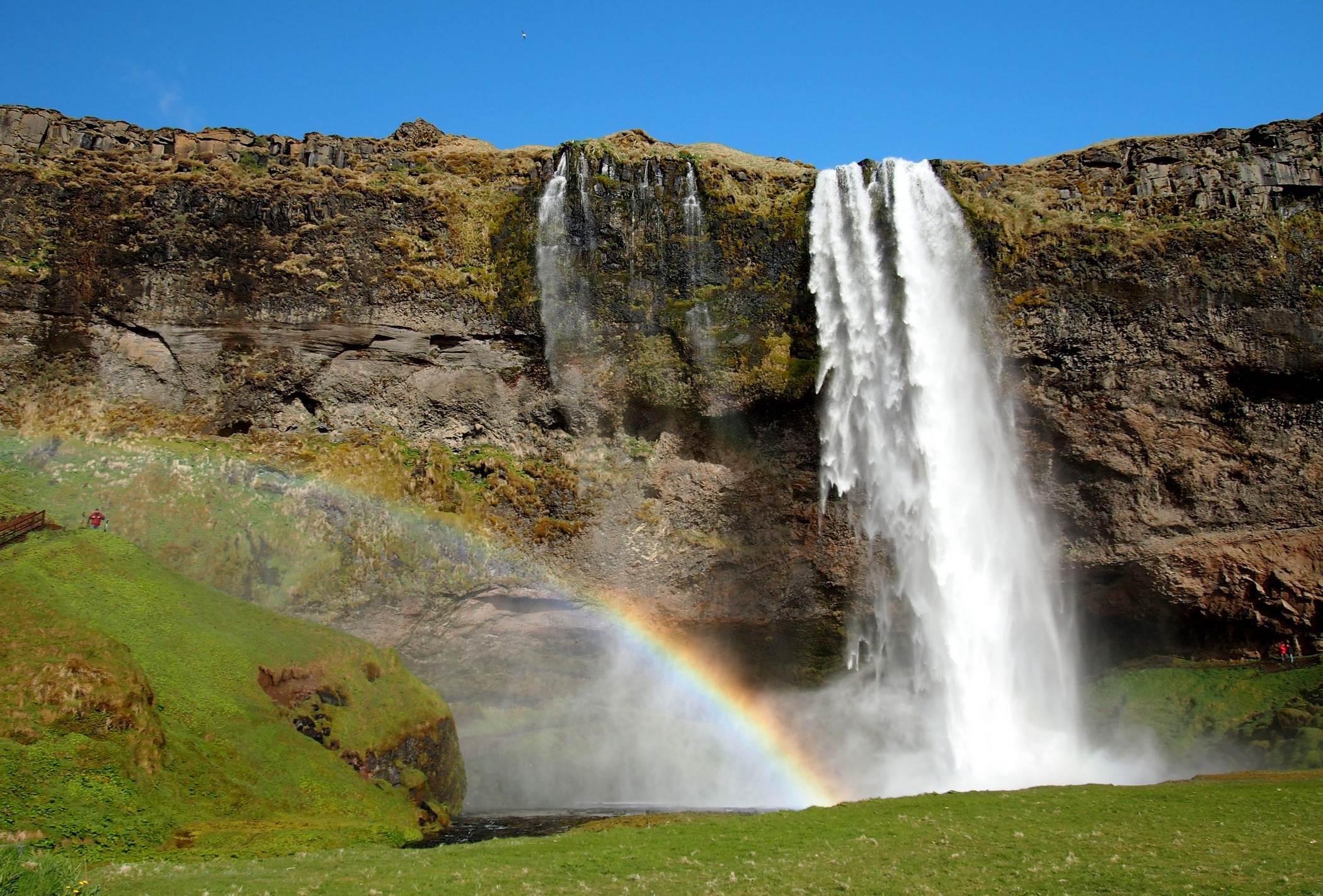 Wodospad Seljalandsfoss Islandia