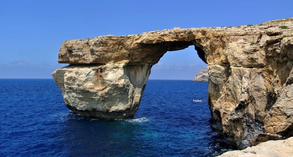 Gozo Malta zniszczona atrakcja