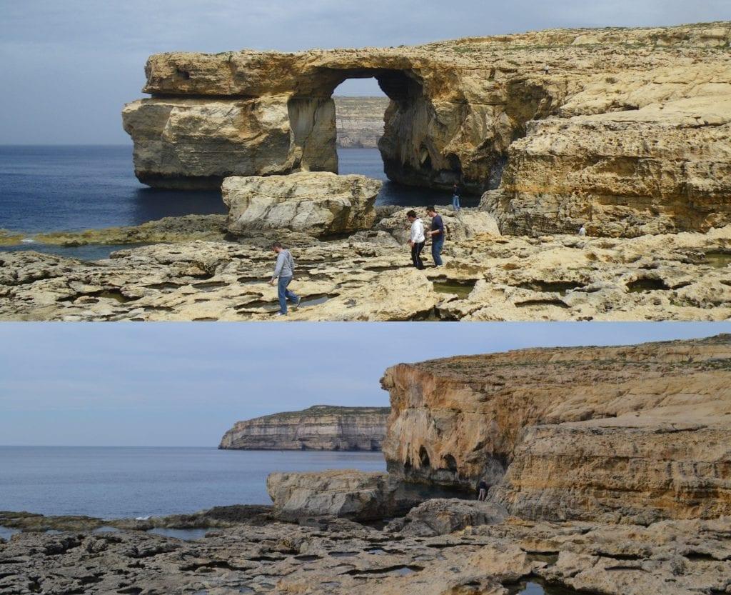 Lazurowe Okno, łuk skalny na wyspie Gozo