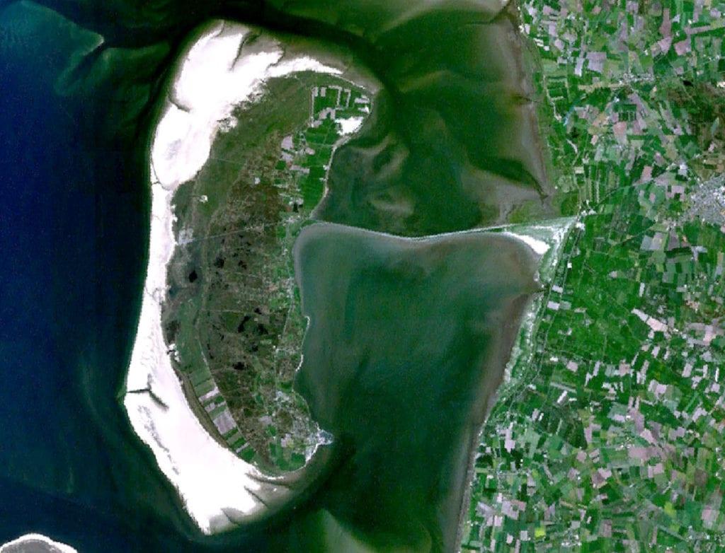 Wyspa Romo, widok satelitarny
