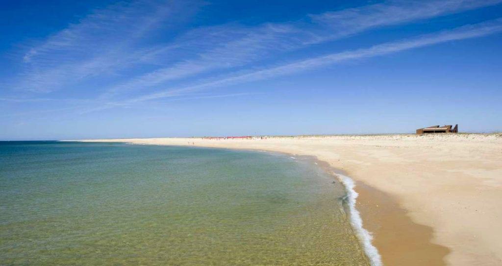 Plaża nudystów w Portugalii