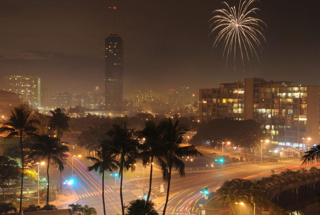 Sylwester w USA Honolulu
