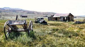 Miasto duchów Bodie - opuszczone wozy